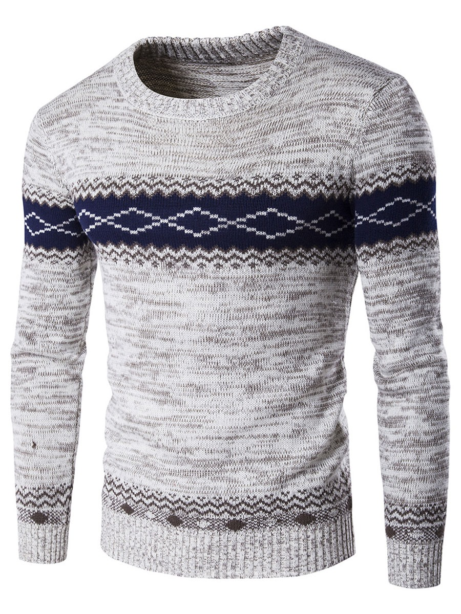 Ericdress Jacquard Vogue Pullover Men's Sweater