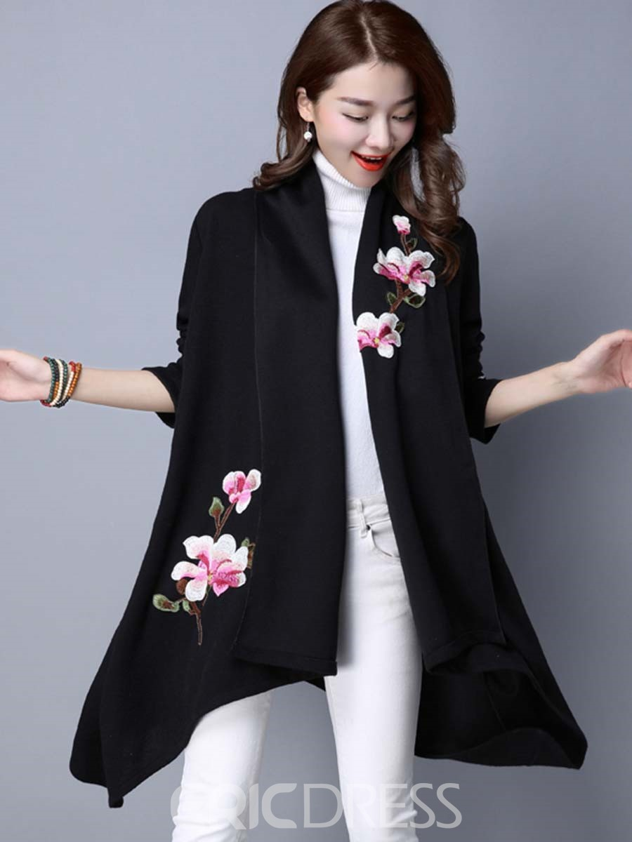 Ericdress Floral Printed Cardigan Knitwear