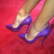 Ericdress Purple Snake Print Point Toe Pumps