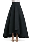 Ericdress Pleated Asymmetric Maxi Skirt