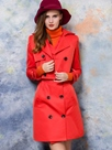 Ericdress Solid Color Trench Coat Dress Suit
