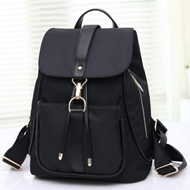 Ericdress Preppy Simple Latch Oxford Backpack