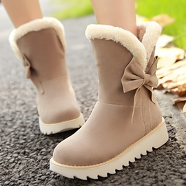 Bottes de neige Ericdress Lovely Girl Bowtie ronde Toe