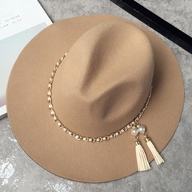 Ericdress Tassel Pendant Decorated Fedora Hat