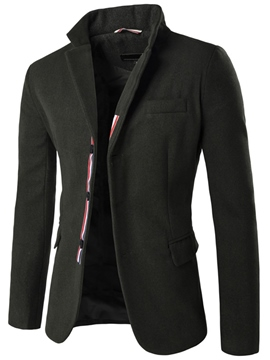 Ericdress Color Block Patchwork Slim Men's Woolen Blazer