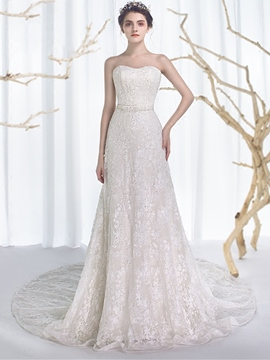 Ericdress schöne Perlen liebsten Lace Wedding Dress