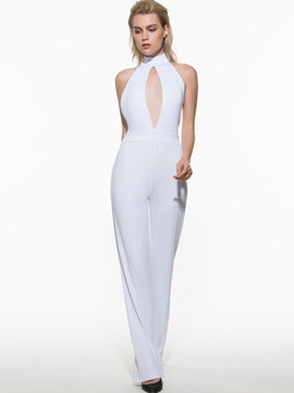 Ericdress Sexy Halter Jumpsuits Pants
