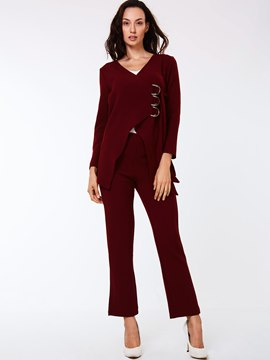Ericdress Unique Solid Color Leisure Suit