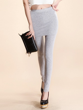 Ericdress Simple Double-Layer Leggings Pants