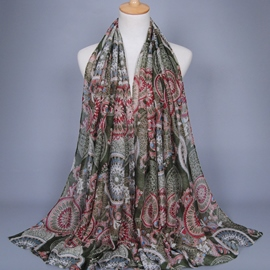 Ericdress Long Printed Design Muslim Scarf