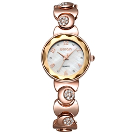 Ericdress Round Dial Diamante Bracelet Watch