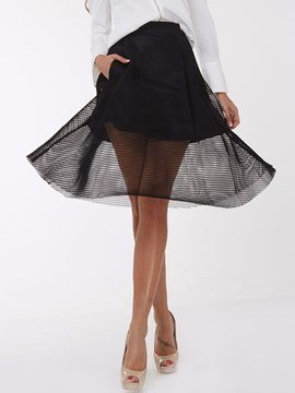 Ericdress Sweet Hollow Mesh Skirt