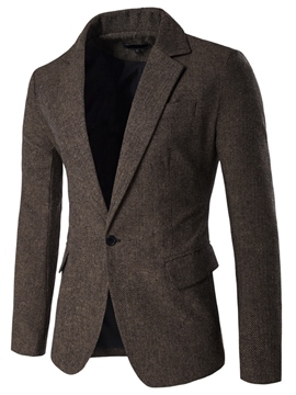 Ericdress Plain Vogue One Button Woolen Slim Men's Blazer