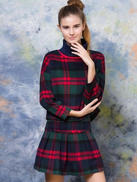 Ericdress Vintage Plaid Leisure Suit