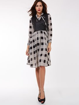 Ericdress Plaid Dress Leisure Suit