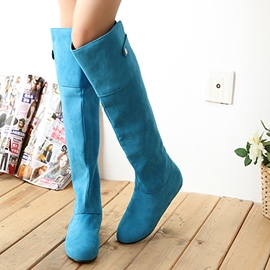 Ericdress Sweet Suede Elevator Hee Knee-High Boots