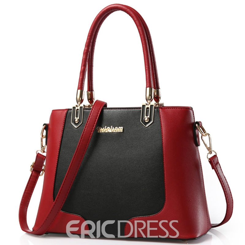 Ericdress Versatile Color Block Handbag