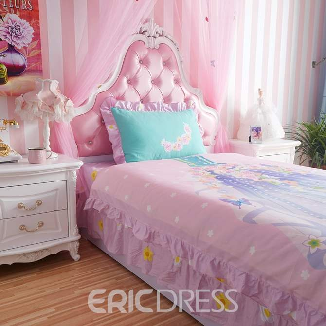 Vivilinen Lovely Magic Fairy Dress Pattern Kids Cotton 4-Piece Duvet Cover Sets