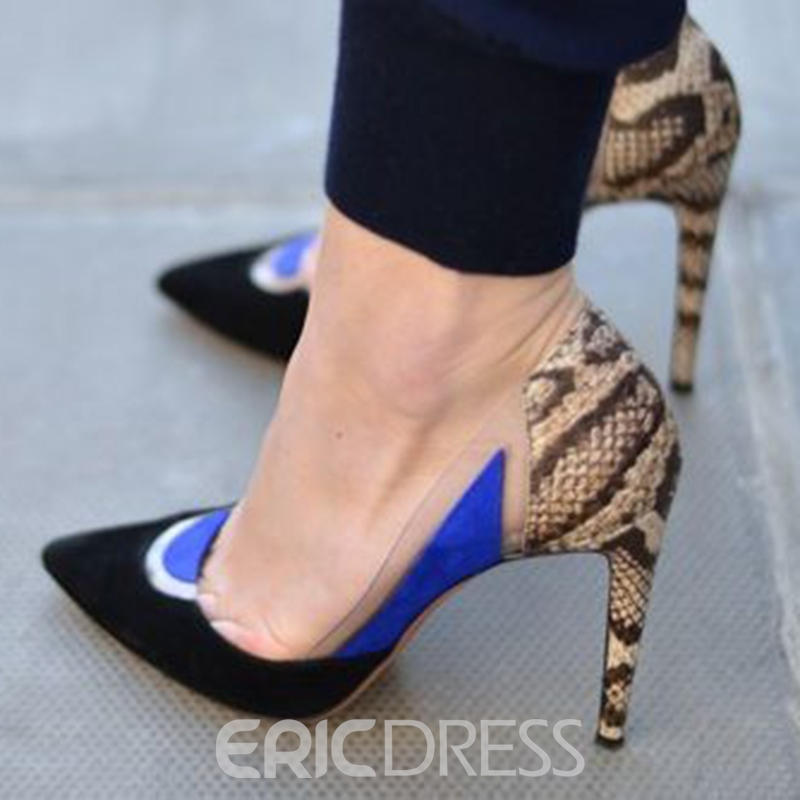 Ericdress Patchwork Point Toe Pumps