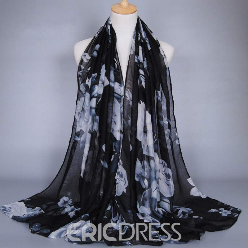 Ericdress Multicolor Printed Cotton Scarf