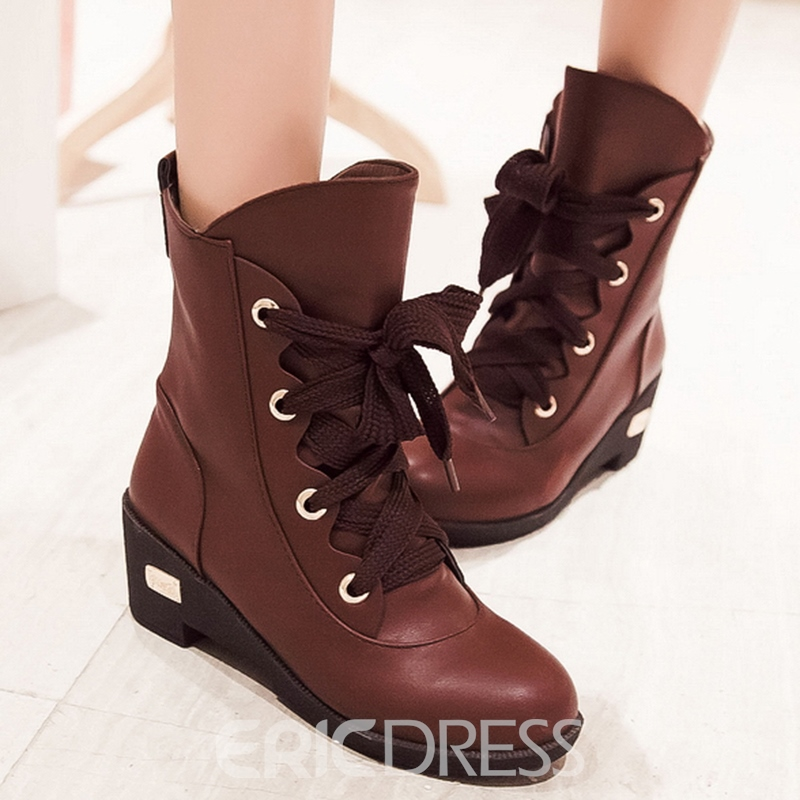 Ericdress All Match Lace up Ankle Boots