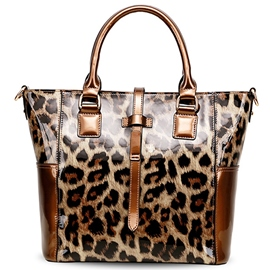 Ericdress Sexy Leopard Patent Leather Handbag