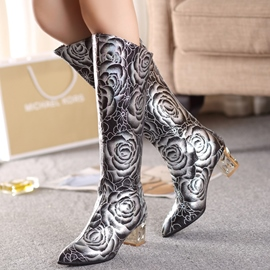 Ericdress Noble Print Knee High Boots