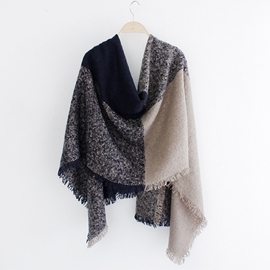 Ericdress Four Color Square Block Design Scarf/Shawl