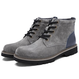 Ericdress Fashion Patchwork Lace up Men's Boots