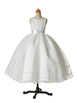 Ericdress bijou classique robe boule robe de Cheap Flower Girl