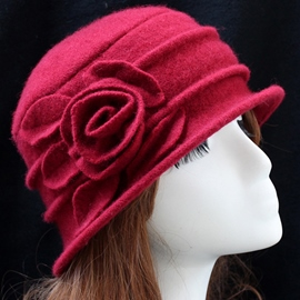 Ericdress Flower Embellished Women's Wool Hat