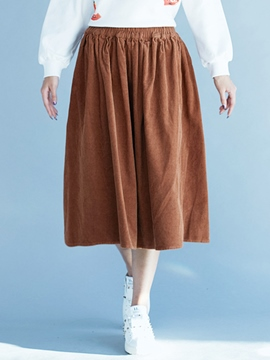 Ericdress Simple Solid Color Usual Skirt