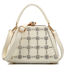 Ericdress Diamante Serpentine Embossed Handbag