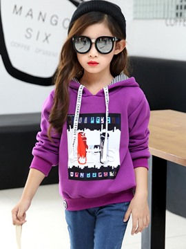 Ericdress Letter Print Sports Girls Hoodie