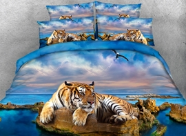 Ericdress Ocean Tiger Print 3D Bedding Sets