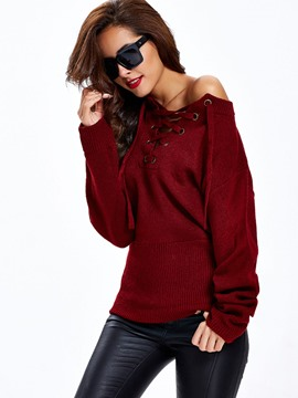 Ericdress Cross Strap Casual Knitwear