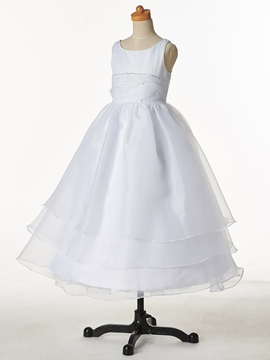 Ericdress Jewel Beaded Ball Gown Cheap Flower Girl Dress