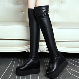 Ericdress Modern PU Platform Thigh High Boots
