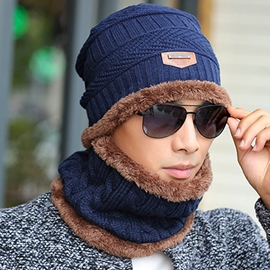 Ericdress Stylish Thicken Outdoor Knitting Men's Beanie Knit Hat