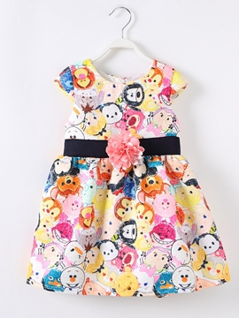 Ericdress Animal Graffiti Sleeveless Girls Dress