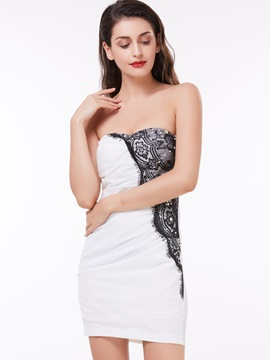 Ericdress gaine Sexy Applique sans bretelles court/Mini robe de Cocktail