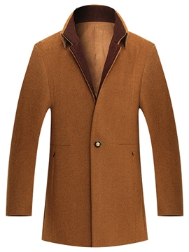 Ericdress Plain Quality Slim Men's Woolen Coat