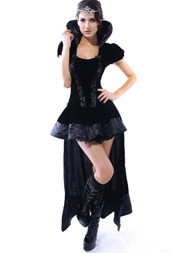 Ericdress Black Asymmetric Queen Cosplay Costume