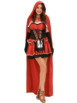 Ericdress Pleated Patchwork with Cape Halloween Costume