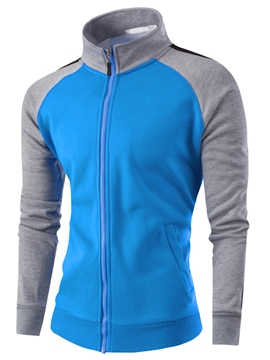 Ericdress Sports Casual Zip Men's Hoodie