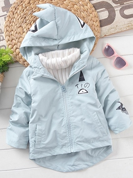 Ericdress mignon dinosaure Sweats zippé capuche Trench Coat