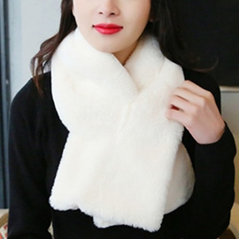 Ericdress Pure Color Furry Neck Warmer