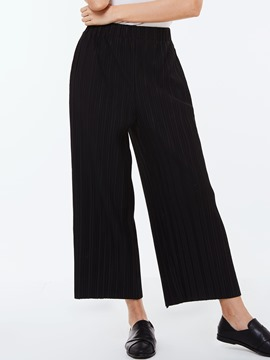 Ericdress Pleated Loose Wide Legs Pants