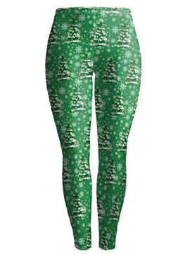 Ericdress Plant Print High-Waist Leggings Pants