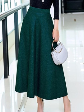 Ericdress Simple Expansion Usual Skirt
